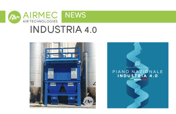 I filtri a cartucce a pulizia automatica rientrano nel Piano Nazionale Industria 4.0