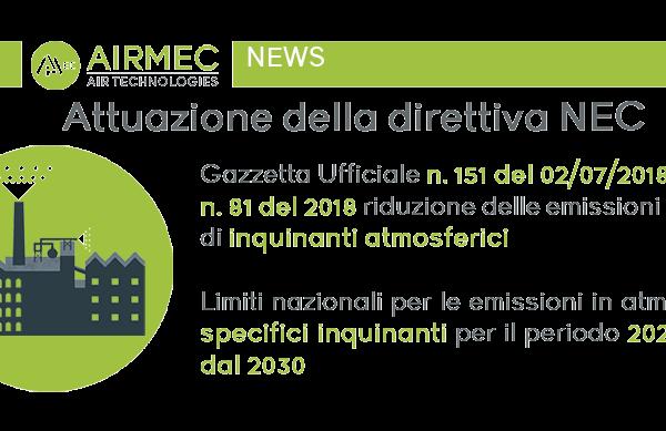 Attuazione della Direttiva NEC