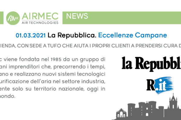 (Italiano) Airmec: l'azienda, con sede a Tufo che aiuta i propri clienti a prendersi cura dell'ambiente